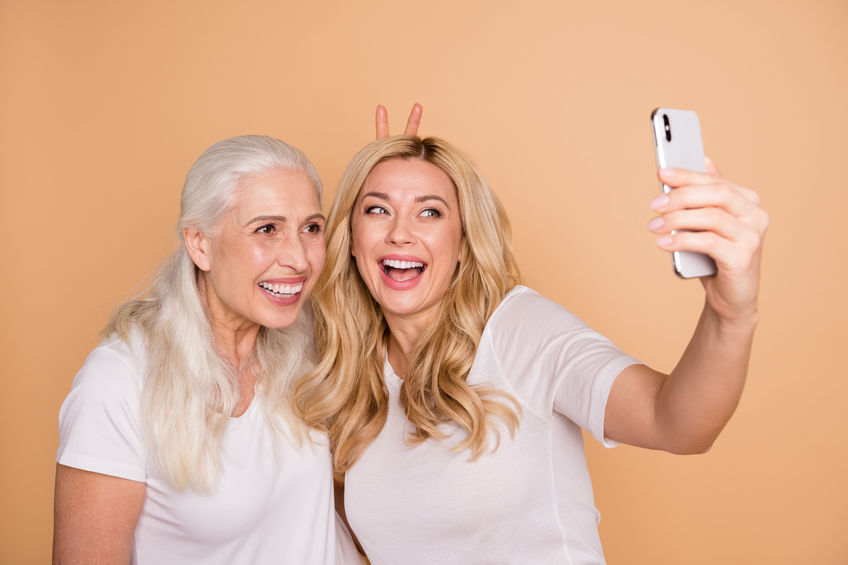 Two females taking a selfie